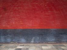 Chinese Red And Black Brick Wa...
