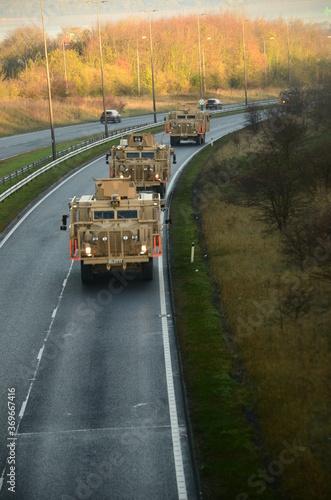 Photo British army armoured convoy