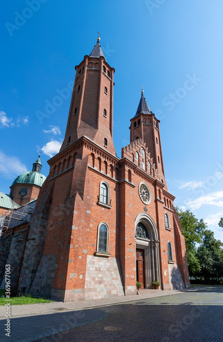 Valokuva Cathedral Basilica of the Assumption of the Blessed Virgin Mary in Plock, Poland