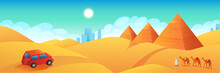 Travel To Egypt Banner. Car Tr...