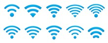 WIFI Icon Set In Various Shapes