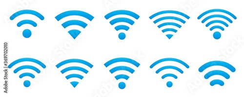 Obraz WIFI icon set in various shapes - fototapety do salonu