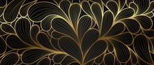 Luxury Golden Wallpaper.  Abst...