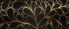 Luxury Golden Wallpaper.  Abst...