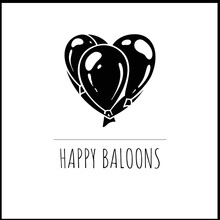 Heart Form From Baloon Great Vector Logo For The Agency For Organizing Events