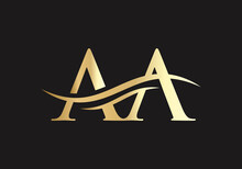 AA Letter Linked Logo For Business And Company Identity. Creative Letter AA Logo Vector Template.