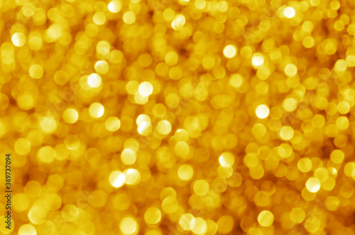 Obraz glitter light sparkle yellow golden gorgeous bokeh defocused abstract background shiny. - fototapety do salonu