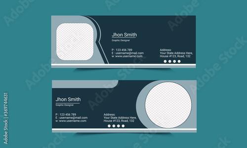 Email signature Template Design Fotobehang