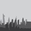 City skyline background vector illustration