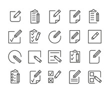 Simple Set Of Register Related Outline Icons. Elements For Mobile Concept And Web Apps. Thin Line Vector Icons For Website Design And Development, App Development.
