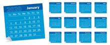 Calendar Leaf , Year 2020. Vec...