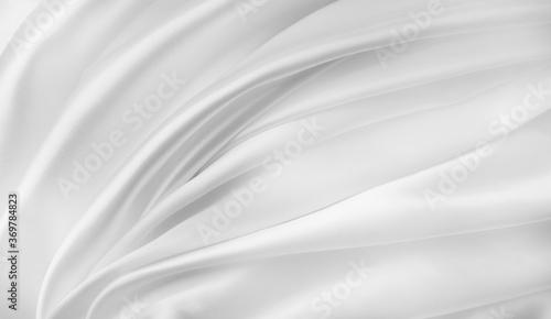 White silk fabric lines Wallpaper Mural