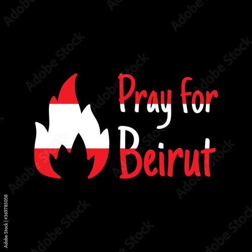 Fototapeta premium Módlcie się za Bejrut. Tragedia w Bejrucie. Tło poświęcone potężnym eksplozjom w Bejrucie. Ilustracji wektorowych.