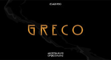 Greco, A Classy Vintage Style Typeface. Vector Illustration Font Design