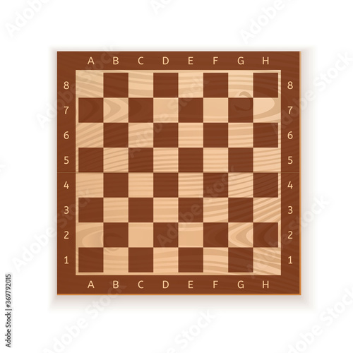 Cuadros en Lienzo Wooden chess board