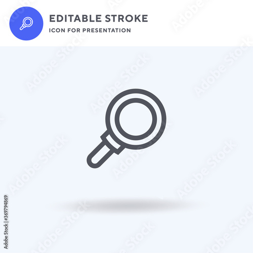 Fototapeta Research icon vector, filled flat sign, solid pictogram isolated on white, logo illustration. Research icon for presentation. obraz na płótnie