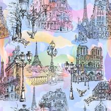 Paris Watercolor Wallpaper