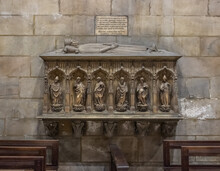 The Grave Of A Wealthy Townsman In The Wall In The Interior Of The Cathedral Of Milan - Duomo Di Milano In Milan, Italy