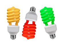 Light Bulbs Isolated On White Background