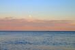 Warm evening over the calm sea.