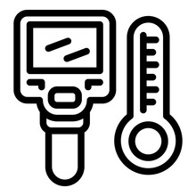 Thermal Imager Icon. Outline T...