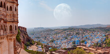 Mehrangarh Fort With Blue City...
