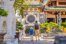 Dad And Son Tourists In Chua L...