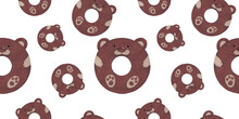 Chocolate Bear Seamless Patter...