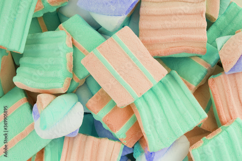Fototapety, obrazy: Food shoot of marshmallow on white background