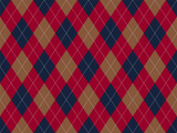 Argyle pattern seamless. Fabric texture background. Classic argill vector ornament - 369906232