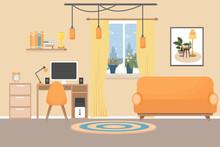 Modern Interior In Bright Colo...