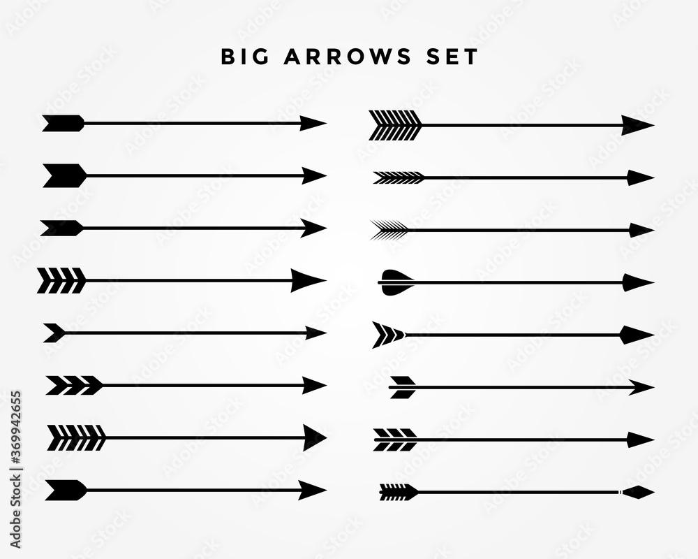 Fototapeta vintage classic arrows set of sixteen styles