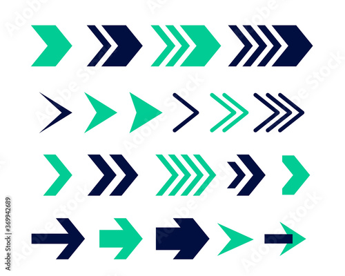 directional arrow sign or icons set design Fototapeta