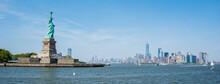 Panoramic View Of NewYork Manhattan And Ellis Island