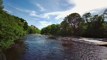 Barnard Castle And The River Tees, Teesdale, County Durham, England