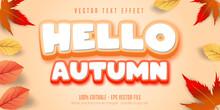Hello Autumn Text, Autumn Style Editable Text Effect