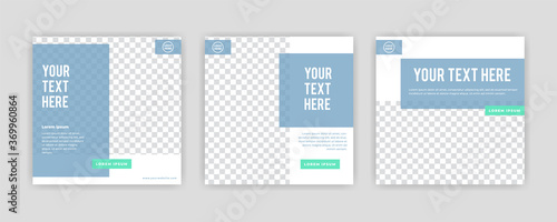 Foto Modern Social Media banner template can be edited