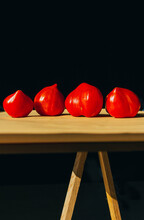 Tomatoes On A Table