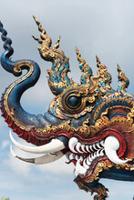 Ancient Ornamental Dragon Of Temple