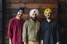 Family Portrait Of Indian Men
