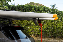 Surf Skis On Top Of Car