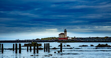 Bandon Lighthouse And Coquille River, Oregon Coast