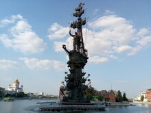 Monument To Peter I In Moscow
