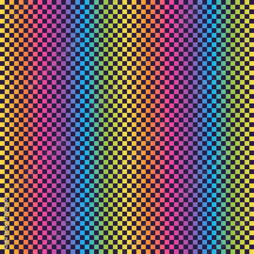 Fotografia, Obraz Bright Rainbow Retro Seamless Pattern - Colorful ombre gradient repeating patter