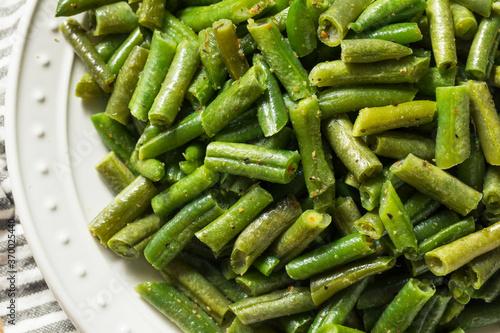 Fototapeta Homemade Sauteed Cooked Green Beans obraz