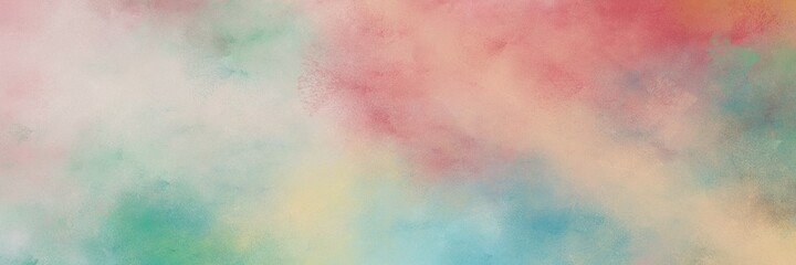 stunning abstract painting background texture with silver, dark sea green and cadet blue colors and space for text or image. can be used as header or banner
