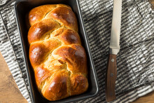 Homemade Baked Braided Brioche Bread