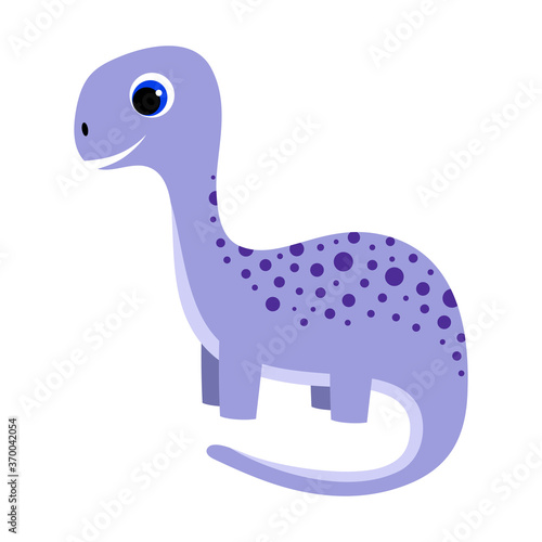 Obraz cartoon little dinosaur isolated on white background - fototapety do salonu