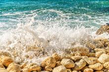 Stony Coast Of The Black Sea. ...
