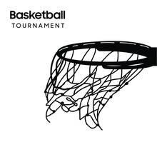 Basketball Tournament Banner. Sport. Vector Illustration